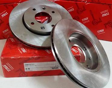 Trw front brake disc rotor nissan almera