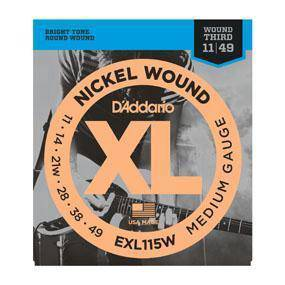 D'Addario EXL115W Nickel Wound Elec Guitar Strings