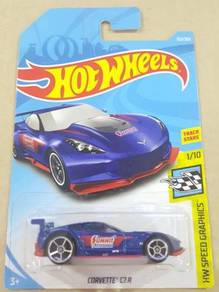 HotWheels Corvette C7.R Blue 2018