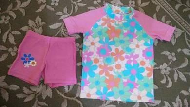 Baju Mandi Kanak-Kanak Perempuan 2 Piece Saiz 4
