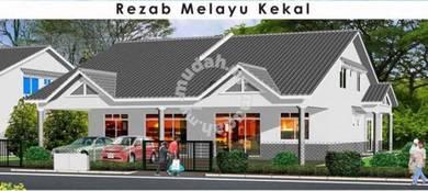 Rumah Semi-D 1&1/4 Tingkat Baru (36x119) di Cempaka Jaya , Kempadang