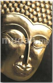 Aipj Buddha wood wall panel with 24k gold leafs