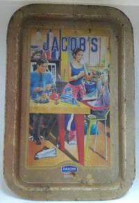 Vintage Jacob's Danone Metal Serving Tray