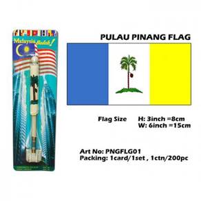 Penang flag with spring table flag