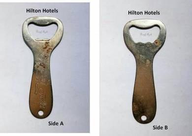 Pcol Bottle Opener Pembuka Botol Hilton Hotels