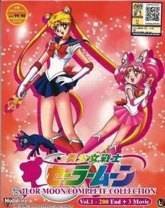 DVD ANIME SAILOR MOON Vol.1-200End + 3 Movie