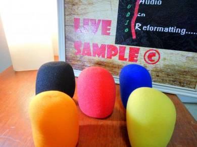 Microphone foam basic filter (wired/wireless)