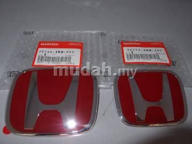 Honda Type-R Red Logo For City Civic FB FD1 FD2