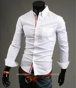 J0536 Urban White Pocket Formal Long Sleeve Shirt