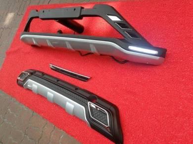 Perodua aruz bumper guard protector bodykit 3