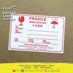 Shipping Label Sticker