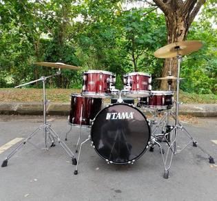 Tama SG58H6C-WR, Stagestar Drum Set W/Cymbal, 18BD