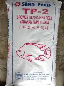 Star Feed TP2 Tilapia Fish Feed Makanan Ikan 20kg