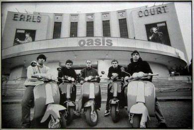Poster Oasis The English Rock Band VESPA W 1