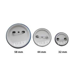 Button Badges With Back Pin (Size 32/44/58 Mm)