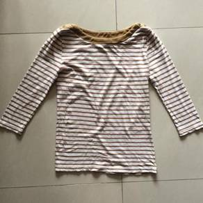 MNG - Yellow Stripe Blouse