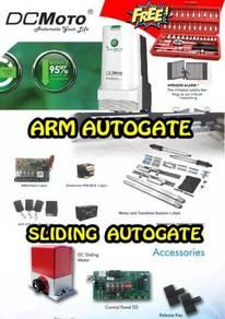 Autogate installation sliding arm folding
