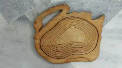 Swan wooden basket