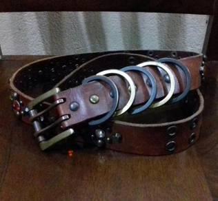 Belt Leather Gemstone Unbrand
