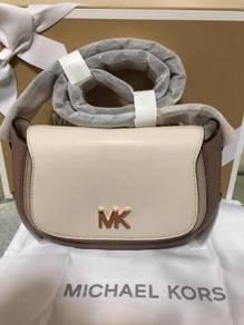 MK Jolene Small Two-Tone Leather Saddle Bag