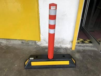 Rubber lane block with flexible post Sirim
