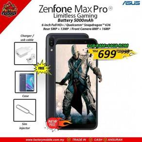 Asus Zenfone Max Pro M1 6+64GB Msia set + gift