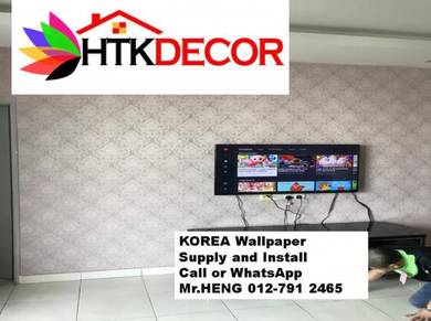 Sale and installation of Wall paper 242TH