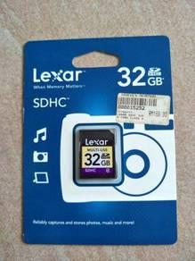 100% Original Lexar 32GB SDHC Memory Card (Last)