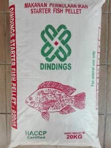 Dindings 920 Starter Fish Pellet Makanan Ikan 20kg
