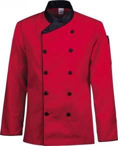 Baju Chef Kitchen Uniform color Red Merah