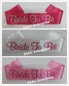 BRIDE TO BE Sash Selempang Wedding Hen's Party 2