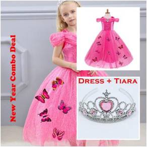 Disney Cinderella Elegance Dress with butterfly_PI
