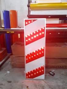 Solar bridge panel obstruction marker