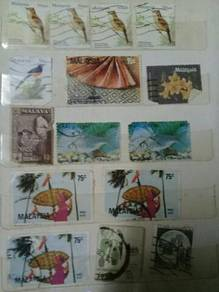119 Setem lama antik old stamps 139 pcs