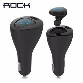ROCK Muca Bluetooth earphone & Car Charger 2 in 1