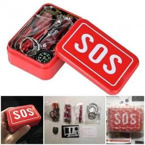 6 in 1 camping kit / sos box 10