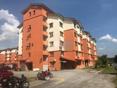 Rose apartment bandar saujana utama block a tingkat 4 with lift
