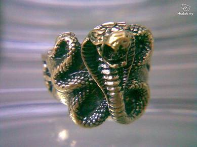 ABRB-S007 Bronze Cobra Snake Finger Ring Size 7