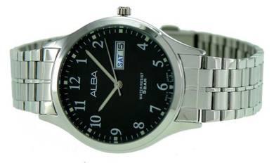 Alba Men Date Stainless Steel Watch VX43-X094BSWS