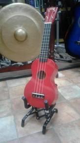 Ukulele Soprano Metallic Red
