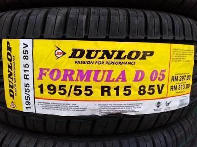 195/55/15 Dunlop Formula DO5 Tyre 2019 Tayar