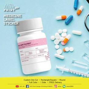Medicine Label Sticker