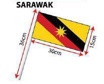 D - Hand Hold Flag with Stick (Sarawak)