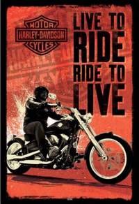 Poster HARLEY DAVIDSON LIVE TO RIDE