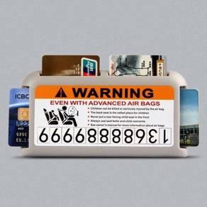4 slots sun visor card holder 06