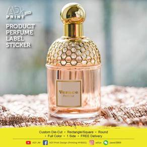 Product Perfume Label Sticker