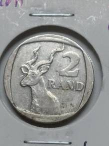 Vintage South Africa 2 Rand Coin 1998