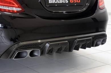 Mercedes w205 Brabus diffuser with tail pipe
