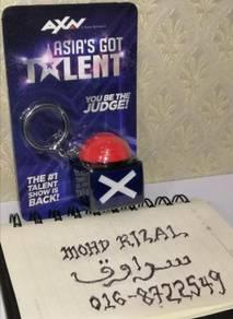 ASIA'S GOT TALENT Buzzer Keychain Key Chain AXN