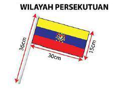 D - Hand Hold Flag with Stick (Wilayah Persekutuan